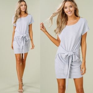 CHARLOTTE Tie Waist Dress - LIGHT BLUE